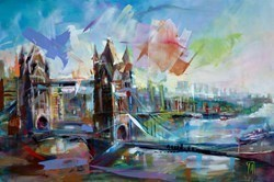 Bridge by Marijus Jusionis -  sized 47x32 inches. Available from Whitewall Galleries